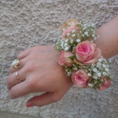 Armschmuck Trauzeugin rosa