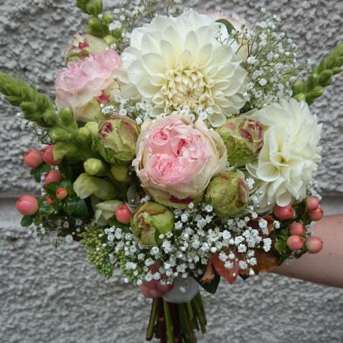 Brautstrauss weiss rosa