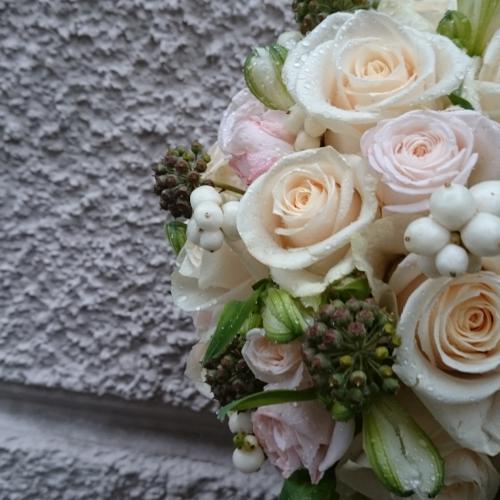 Brautstrauss rosa-vanille