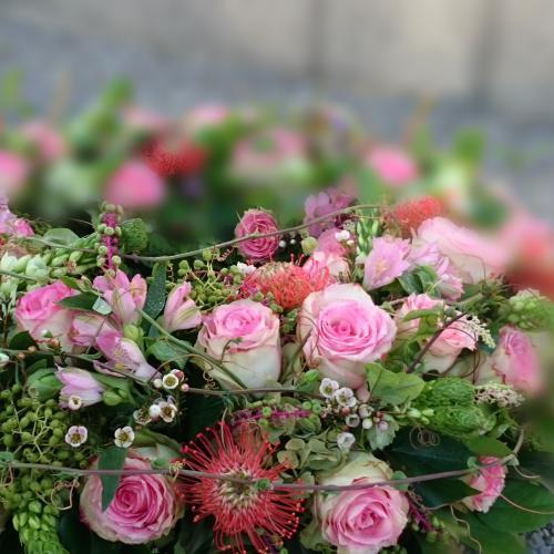 Trauerkranz rosa